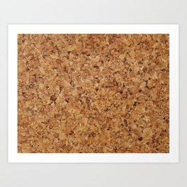 Cork pattern Art Print