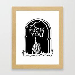 Mean Grave Framed Art Print