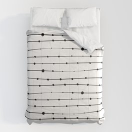 Lines pattern with thorns Comforters