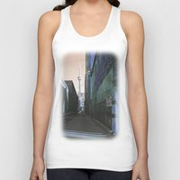 the shining Tank Tops featuring shining spire... by Chernobylbob