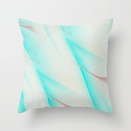 Pattern turquoise and white 1 Throw Pillow