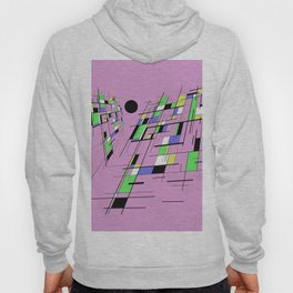 Bad perspective - Abstract, vector, geometric, 3D style artwork Hoody