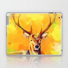 Forest King - Deer painting Laptop & iPad Skin