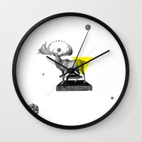 psychology Wall Clocks featuring Archetypes Series: Dignity by Attitude Creative
