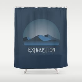 Exhaustion Shower Curtain