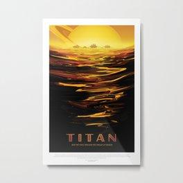 NASA Visions of the Future - Titan: Ride the tides through the throat of Kraken Metal Print