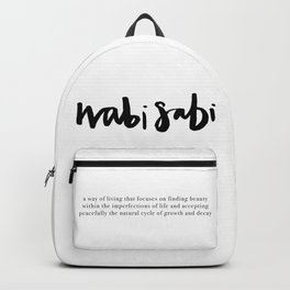 wabi sabi Backpack