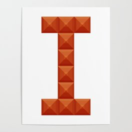 "Letter ""I"" print in beautiful design Fashion Modern Style Poster"