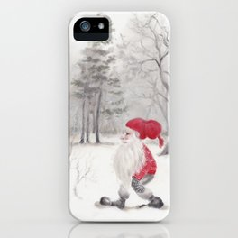 Gnome and bullfinch iPhone Case