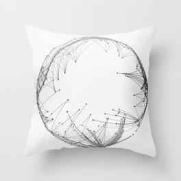 Minimal Geometric Circle Throw Pillow