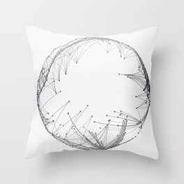 Minimal Geometric Circle Throw Pillow