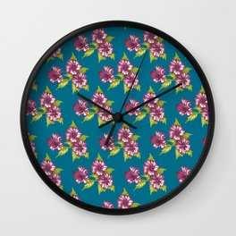 Jessica Teal Wall Clock