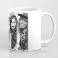 fifth harmony Mugs featuring Fifth Harmony Group Drawing by Emilia Apreda