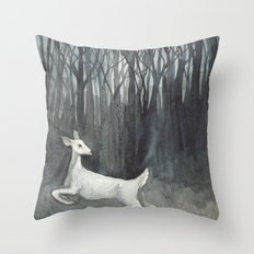 Ghost Doe Throw Pillow