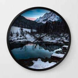 Zelenci springs at dusk Wall Clock