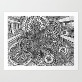 The Hidden Clockwork Art Print