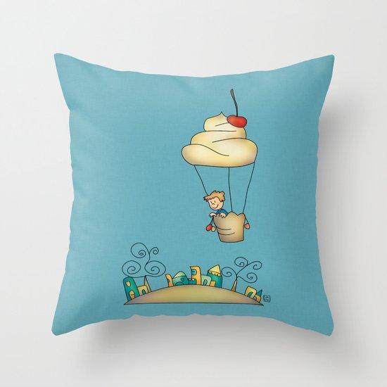 Sweet world Throw Pillow