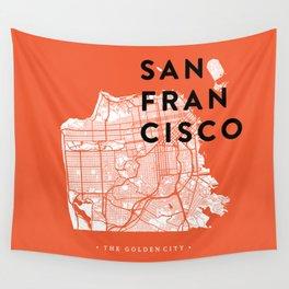 San Francisco Map 04 Wall Tapestry