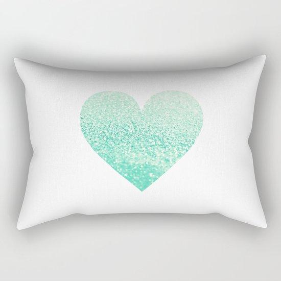 SEAFOAM HEART Rectangular Pillow