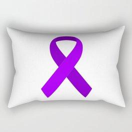 Purple Awareness Support Ribbon Rectangular Pillow