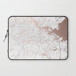 Amsterdam White on Rosegold Street Map Laptop Sleeve