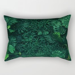 Fresh Tropical Greenery (Color) Rectangular Pillow