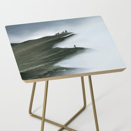 Foggy Landscape Digital Painting Side Table