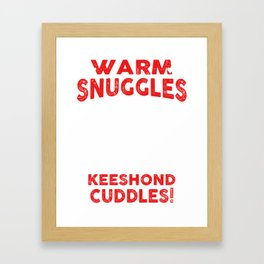 Keeshond Ugly Christmas Sweater Framed Art Print
