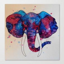 Galaxy Elephant Canvas Print