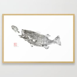 Largemouth chasing sunfish 3 Framed Art Print