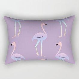 Rainbow flamingo Rectangular Pillow