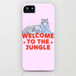 welcome to the jungle - retro tiger iPhone Case