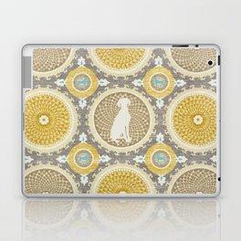 BLUE WEIMARANER & AMBER MEDALLIONS Laptop & iPad Skin