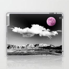 Black Desert Sky & Fuchsia Moon // Red Rock Canyon Las Vegas Mojave Lune Celestial Mountain Range Laptop & iPad Skin