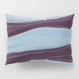 Orange Lining on an Icescape Pillow Sham