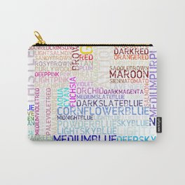 All html colors in word and color Carry-All Pouch