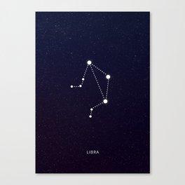Libra zodiac sign Canvas Print
