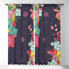 Colorful Happy Small Spring Flowers Trendy Cute Pattern Blackout Curtain