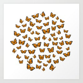 Papillons Art Print
