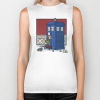 hallion Biker Tanks featuring Who wants to Build a Snowman? by Karen Hallion Illustrations