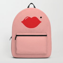 Lips (red on pink) Backpack