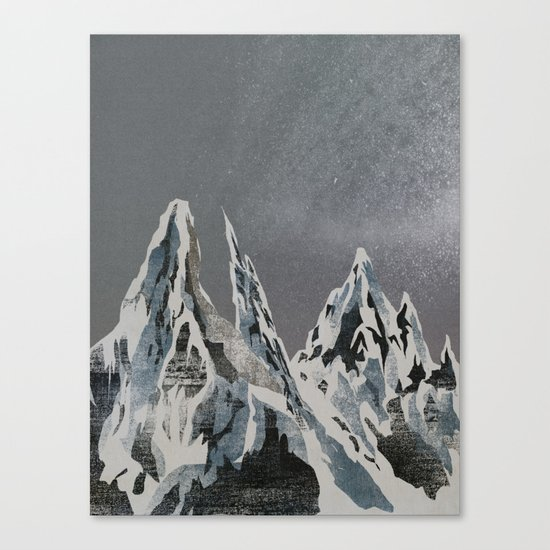 Mountains - Winter Sky Canvas Print