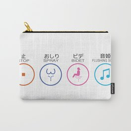 Japanese Toilets Carry-All Pouch