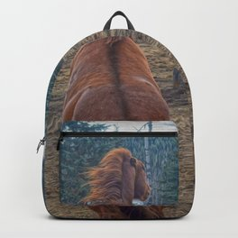 The Challenge - Ranch Horses Fighting Backpack