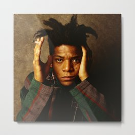 Basquiat Samo in The Flesh Metal Print
