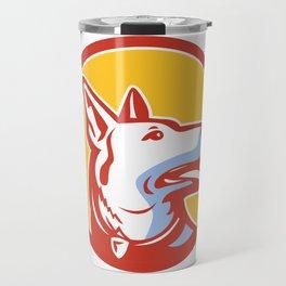 Police Dog Circle Mascot Travel Mug