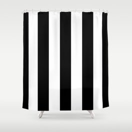STRIPES - BLACK & WHITE Shower Curtain