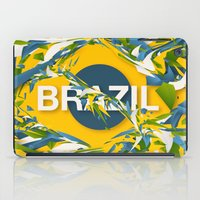 brazil iPad Cases featuring Abstract Brazil by Danny Ivan
