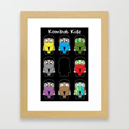 Kombat Kids Ninjas Framed Art Print