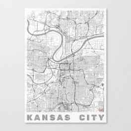 Kansas City Map Line Canvas Print